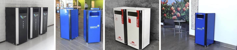 Kiwi XL skåp som tillåter källsortering i offentlig miljö inomhus
