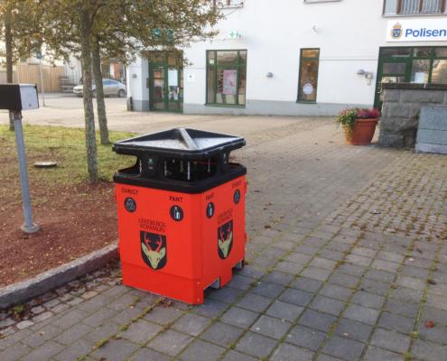 Sortify källsorteringspapperskorg för offentlig utomhusmiljö